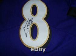 Baltimore Ravens Lamar Jackson Jersey Autographed With Coa -xxl