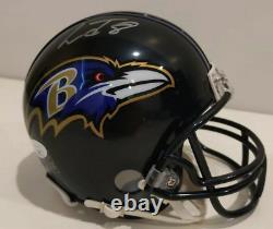 Baltimore Ravens Lamar Jackson Signed Mini Helmet Auto JSA James Spence COA