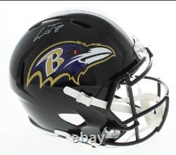 Baltimore Ravens Lamar Jackson Signed Replica Speed Helmet Auto JSA Witnessed