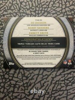 Barry Sanders-Emmit Smith-Bo Jackson 2015 Topps Triple Threads Auto/3! Rare