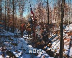 Battlefield Prayer Stonewall Jackson S/n Ltd Ed Classic Giclee John Paul Strain