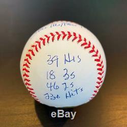 Beautiful Stan Musial Signed Heavily Inscribed STAT Baseball Reggie Jackson COA