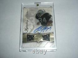 Bo Jackson 08 Ud Ultimate Legendary Game Used Dual Jersey Auto 15/15 Signed Card