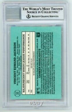 Bo Jackson 1986 Donruss Rookies Autographed Auto Rookie Card RC #38 BAS 10