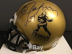 Bo Jackson #34 Heisman Trophy Signed Mini Helmet Autograph COA Beckett BAS
