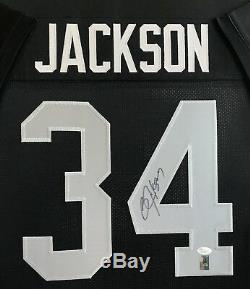 Bo Jackson #34, Los Angeles Raiders, Autographed, Framed Jersey, Jsa/coa