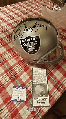 Bo Jackson Authentic ProLine Full Size Helmet Signed Raiders Beckett COA