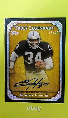 Bo Jackson Auto Beautiful 2013 Topps Truly Legendary # out of 20 Autographed