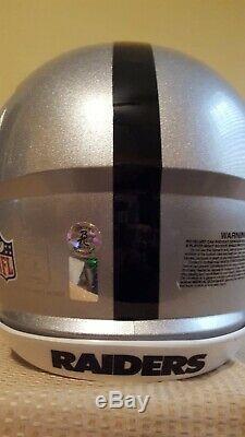 Bo Jackson Autograph Signed Full Sz Silver Raiders Authentic Helmet Incl Coa