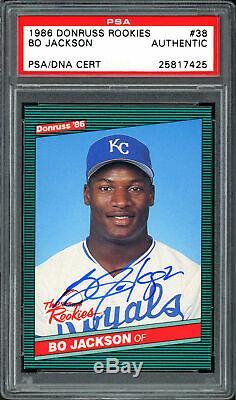 Bo Jackson Autographed 1986 Donruss The Rookies Card #38 Royals PSA/DNA 25817425