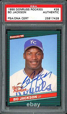 Bo Jackson Autographed 1986 Donruss The Rookies Card #38 Royals PSA/DNA 25817428