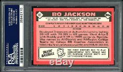 Bo Jackson Autographed 1986 Topps Traded Rookie Card #50T Royals PSA 25942110