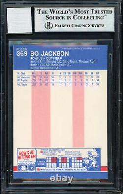 Bo Jackson Autographed 1987 Fleer Rookie Card #369 Gem 10 Auto Beckett 187403