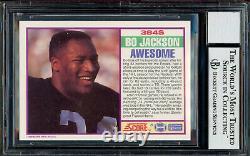 Bo Jackson Autographed 1989 Score RC Raiders Gem 10 Auto Beckett 12670209