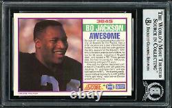Bo Jackson Autographed 1989 Score Supplemental Card #384s Raiders Beckett 187382