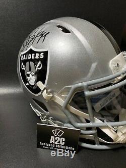 Bo Jackson Autographed FULL Size Authentic SpeedPro Helmet Radtke COA LA Raiders