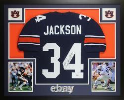 Bo Jackson Autographed & Framed Blue Auburn Jersey Beckett COA D15