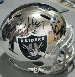 Bo Jackson Autographed Full Size Chrome Raiders Riddell Helmet BAS COA