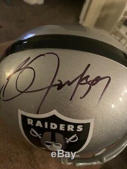 Bo Jackson Autographed Full Size Helmet Raiders Steiner COA