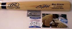 Bo Jackson Autographed Hand Signed Adirondack Pro Wood Baseball Bat Beckett Bas