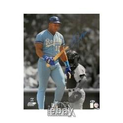 Bo Jackson Autographed Kansas City Royals Autographed 16x20 Photo BAS (Blue Ink)