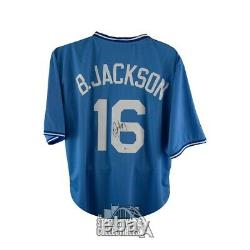 Bo Jackson Autographed Kansas City Royals Custom Baseball Jersey BAS COA (B)