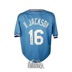 Bo Jackson Autographed Kansas City Royals Custom Blue Baseball Jersey BAS COA