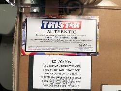 Bo Jackson Autographed Mini Helmet Raiders with Case Authentic