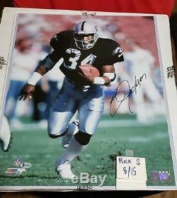 Bo Jackson Autographed Oakland Raiders 16x20 Photo Beckett cert