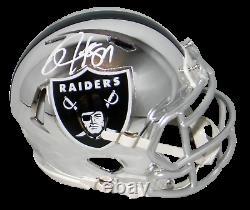 Bo Jackson Autographed Oakland Raiders Chrome Speed Mini Helmet Jsa