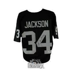 Bo Jackson Autographed Oakland Raiders Custom Black Football Jersey BAS COA