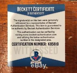 Bo Jackson Autographed Oakland Raiders Custom White Jersey Witness Beckett GTSM
