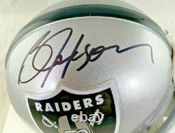 Bo Jackson / Autographed Oakland Raiders Logo Riddell Mini Helmet / Bo Holo