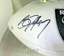 Bo Jackson / Autographed Oakland Raiders Logo White Panel Football / Coa