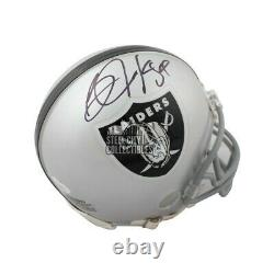 Bo Jackson Autographed Oakland Raiders Mini Football Helmet BAS COA