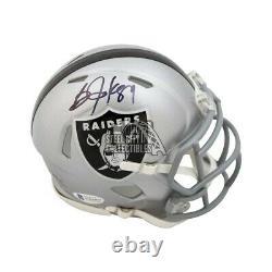 Bo Jackson Autographed Oakland Raiders Speed Mini Football Helmet BAS COA