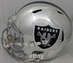 Bo Jackson Autographed Raiders Chrome Full Size Speed Helmet Beckett 147967