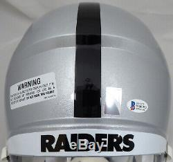 Bo Jackson Autographed Raiders Full Size Speed Replica Helmet Beckett 163500