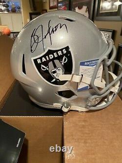 Bo Jackson Autographed Raiders Full Size Speed Replica Helmet Beckett Witnessed