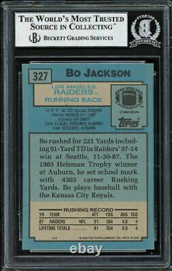 Bo Jackson Autographed Signed 1988 Topps Rookie Card #327 Raiders Beckett 187372