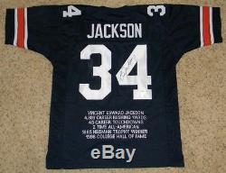 Bo Jackson Autographed Signed Auburn Tigers #34 Navy Stat Jersey Gtsm