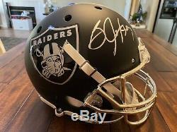 Bo Jackson Autographed Signed Custom FS Helmet Beckett Raiders