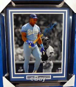 Bo Jackson Autographed Signed Framed 16x20 Photo Royals Bat Break Beckett 155033