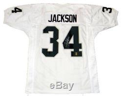 Bo Jackson Autographed Signed Oakland Raiders #34 White Jersey Gtsm