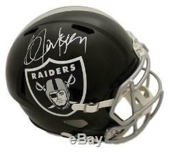 Bo Jackson Autographed/Signed Oakland Raiders Blaze Replica Helmet JSA 22525