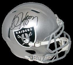 Bo Jackson Autographed Signed Oakland Raiders Full Size Speed Helmet Beckett
