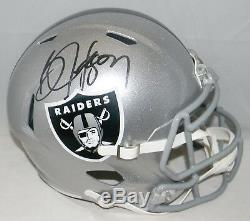 Bo Jackson Autographed Signed Oakland Raiders Full Size Speed Helmet Jsa + Holo