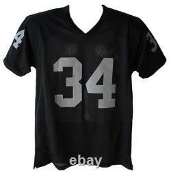 Bo Jackson Autographed/Signed Pro Style Black XL Jersey BAS 12417