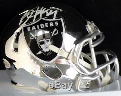 Bo Jackson Autographed Signed Raiders Chrome Speed Mini Helmet Beckett 136196