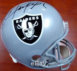 Bo Jackson Autographed Signed Raiders Full Size Replica Helmet Beckett 113781